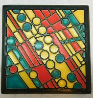 "MOTAWI TILEWORKS FIELD GAMES 6"" X 6"" Charles Rennie Mackintosh  Gaelic Celtic"