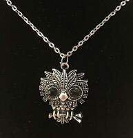 Owl Pendant Chain Necklace 18 Inch Chain Lobster Claw Clasp