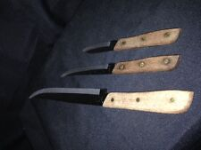 GOLDEN STAINLESS STEEL KNIVES SET OF 3 PARING, STEAK, BUTCHER
