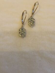 Natural Genuine Alexandrite & Diamond 9ct Yellow Gold Drop Dangle Earrings