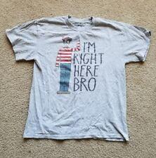 Mens WHERE'S WALDO I'm Right Here Bro T Shirt Grey White Red Black Blue Size L