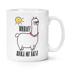 Holiday Alpaca My Bags 10oz Mug Cup -  Animal Llama Joke Funny Sun Silly