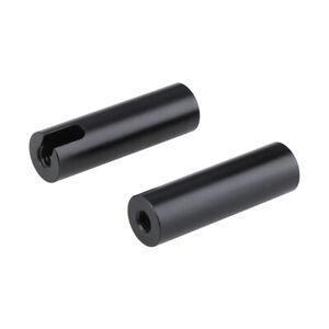 """CAMVATE 15mm Micro Rod 2"""" Long Double-ended with 1/4"""" Female Thread Mounting"""