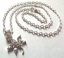 collier 51,5 cm avec pendentif libellule blanche 19x20 mm