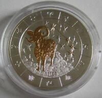 Ruanda 1000 Amafaranga 2009 Zodiac Aries / Tierkreis Widder 3 Oz Silber
