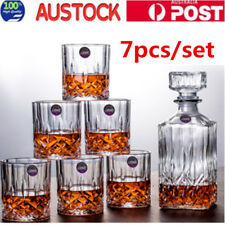 7pcs Whiskey Decanter Set Vintage Glass Liquor Whiskey Bottles Gift set AU