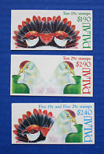 Palau - 1991-1992 Birds MNH booklet set