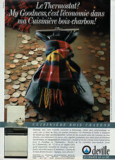 Publicité 1986  Cuisinière bois charbon DEVILLE