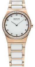 Bering Women's Watch 32430-761 Analog Stainless Steel, Ceramic Rosé