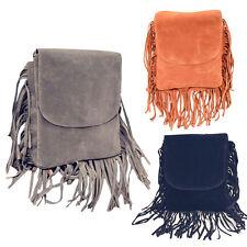 HOBO Tassel Suede Fringe Shoulder Messenger Handbag Cross Body Bag Puse