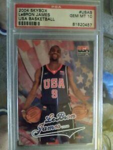 Lebron James 2004 Fleer Skybox USA Basketball #USAB PSA GEM MINT MT 10