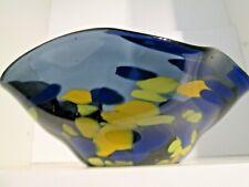 UNIQUE!!! Lydia Beech Isle of Wight Studio/Art Glass Signed Freeform Bowl.