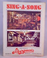 Iroquois Beer Company Sing Along Booklet