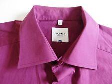 Olymp Tendenz Herren Hemd Langarm Violett Unifarben KW42