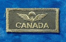CANADA Canadian Airborne OSONS Paratrooper OD Olive Drab jump wings badge patch