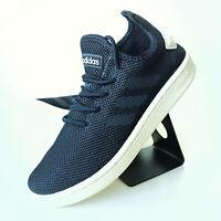 adidas Court Adapt Sneaker Damen Mädchen Jungen Herren Blau Weiß Tennis F36475