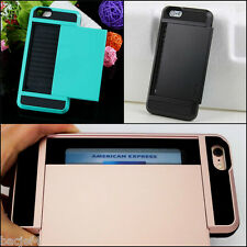 Slide Wallet Case Apple iPhone 4S Credit Card Slot ID Hidden Pocket Cash