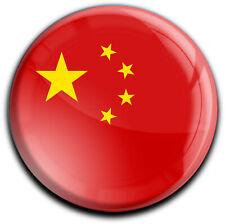 metALUm runder Acrylmagnet mit starkem Neodym - Magnet Flagge China #1310041