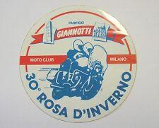 VECCHIO ADESIVO MOTO / Old Sticker MOTO CLUB MILANO 30° ROSA D'INVERNO (cm 12)