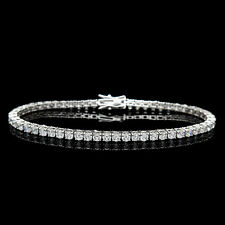 "6.00TCW Round Cut Created Diamond 7.25"" Tennis Bracelet 925 Sterling Silver 3mm"