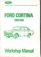 FORD CONSUL CORTINA 1962-1966 ORIGINALE Workshop Manual PUB. NO. CG 410