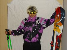 CAPRLOPE Retro Vintage 80's 90's Ski JACKET Neon Apres Ski SIZE UK14