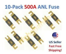 10-Pack Gold Plated 500 Amp 500A Car Stereo Audio ANL Blade Fuse Power Wire NEW