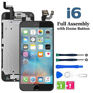 For iPhone 6 Screen Replacement LCD Display Digitizer Assembly + Camera & Button
