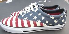 Tommy Hilfiger shoes size Mens  11.5, 12 Red White Blue Women Boys USA Xmas NEW