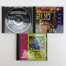 Lot of 3 PC Video Games For Kids - Thinkin' Things, I Spy Fantasy, Clue Finders