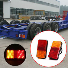 Amber Red Car Truck Trailer Rear Led 10LED Tail Turn Indicator Stop Brake Light