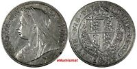 Great Britain Victoria (1837-1901) Silver 1898 1/2 Crown bust ('Old ead') KM#782