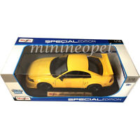 MAISTO 31872 2000 FORD MUSTANG SVT COBRA 1/18 DIECAST MODEL CAR YELLOW