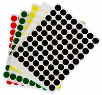Round Dot Labels 1/2 Inch Stickers Assorted Colors Permanent Adhesive 800 Pack