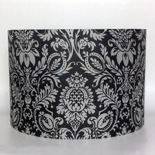 Black & Grey Damask Dreamscene Sanctuary Bedding Fabric Ceiling Light Lamp Shade