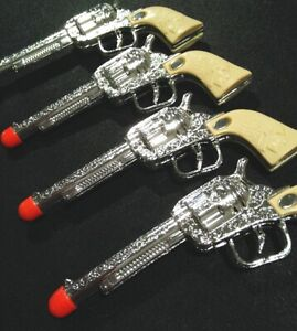 Lot of 6 *slightly damaged* Toy Western Cowboy Gun Pistol FAKE Prop Weapon