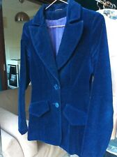 Vintage blue velvet 1970's ladies jacket size 8