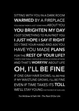 Tim McGraw & Faith Hill - The Rest Of Our Life - Black Song Lyric Art Poster  A4