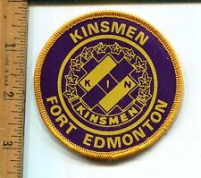 VINTAGE COLLECTIBLE  KINSMEN FORT EDMONTON  JACKET PATCH -UNUSED