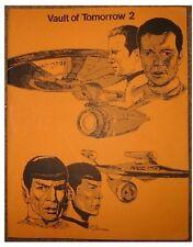 """Star Trek TOS Fanzine """"Vault of Tomorrow  2, 4, 6, 8, 10, 12, 13"""" GEN ADULT"""