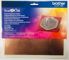 Brother Embossing Metal Sheet x 2 COPPER Scan N Cut 200mm x 155mm RRP £12.99