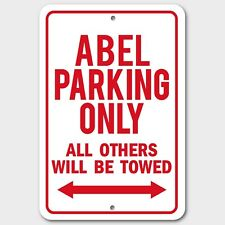 ABEL Parking Only Others Towed Man Cave Novelty Garage Aluminum Sign Red New