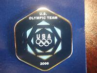 2006 Torino Olympic Team USA Hexagon Pin