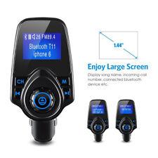 [versión Actualizada] nulaxy en el automóvil Inalámbrico Bluetooth Transmisor FM Radio todas