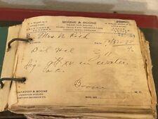 1930 Pharmacy Prescriptions on Original Handmade Spindle Holds 400 Plus