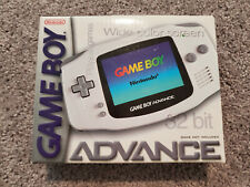 New Gameboy/Game Boy Advance White Arctic Nintendo Video Game Console