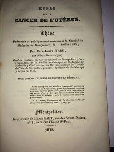 ESSAI SUR LE CANCER DE L'UTÉRUS par ITARD des BASSES-ALPES, 1835.