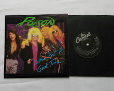 """POISON Nothin' but a good time UK 7"""" 45 w/POSTER Bag CAPITOL CLP 486 (1988)NMINT"""