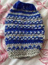 Small Skinny Pig Outfit.  Grey and Blue Knitted Jumper.