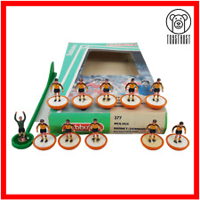 More details for subbuteo team wolves / barton ref 377 vintage table soccer toy lightweight lw